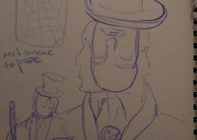 magician concept sketch