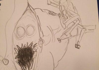 knight of swords sketch