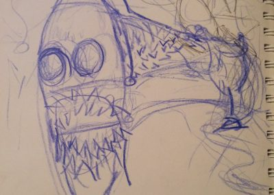 sea snake sketch