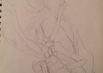 lobster knight sketch