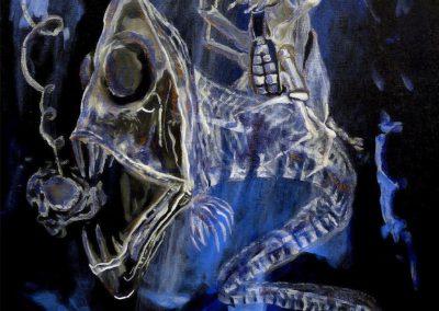 Haunted Basement Tarot – Knight of Swords