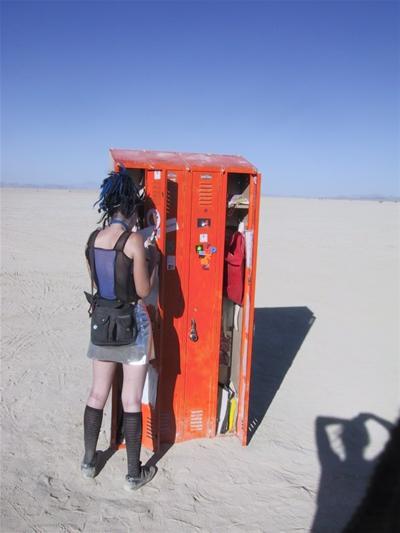 Orange Lockers